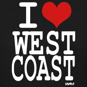 Black i love west coast by wam Women's T-Shirts - Women's T-Shirt
