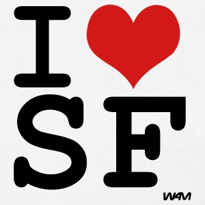 White i love sf ( san francisco ) by wam Women's T-Shirts - Women's T-Shirt