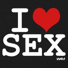Black i love sex by wam Women's T-Shirts