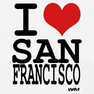 White i love san francisco  by wam Women's T-Shirts - Women's T-Shirt
