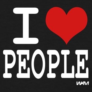 Black i love people  by wam Women's T-Shirts - Women's T-Shirt