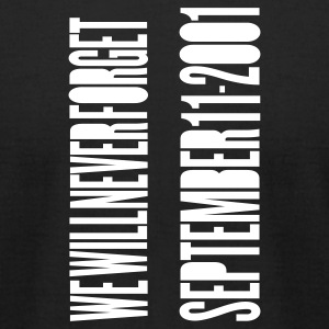Black TWIN TOWERS - SEPTEMBER 11 ATTACKS T-Shirts - Men's T-Shirt by American Apparel