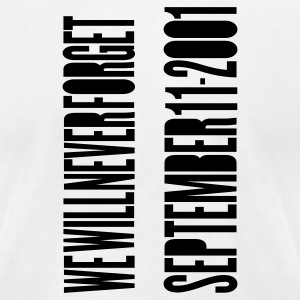 White TWIN TOWERS - SEPTEMBER 11 ATTACKS T-Shirts - Men's T-Shirt by American Apparel