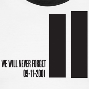 White/black september 11 attacks - tribute T-Shirts - Men's Ringer T-Shirt