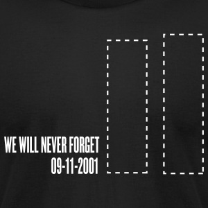 Black september 11 - tribute T-Shirts - Men's T-Shirt by American Apparel