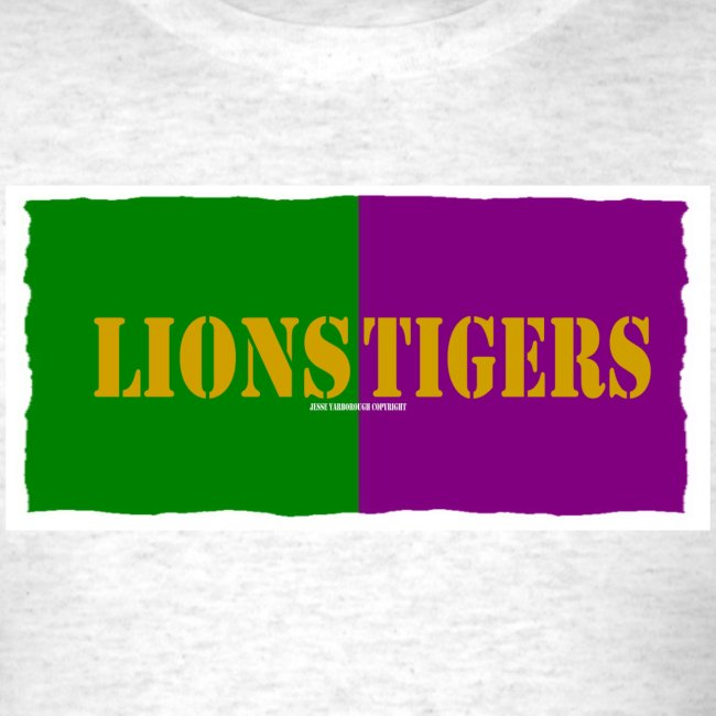 wholesale dealer 396e6 62d39 Lions Tigers Southeastern LSU Split Fan Tee | Men's T-Shirt