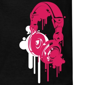 Black Headphones Pink Kids' Shirts - Kids' T-Shirt