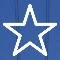Royal blue star outline Hoodies