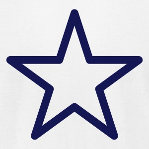 White star outline T-Shirts - Men's T-Shirt by American Apparel