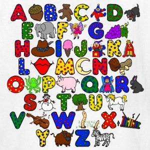 White abc Kids' Shirts - Kids' T-Shirt