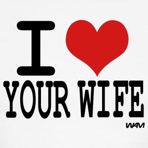 i love your wife by wam T-shirts (manches courtes) - T-shirt à bords contrastants pour hommes American Apparel