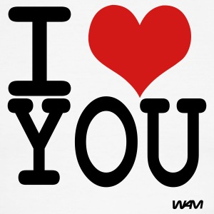 i love you by wam T-shirts (manches courtes) - T-shirt à bords contrastants pour hommes American Apparel
