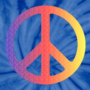 Bule tie dye color peace sign - Unisex Tie Dye T-Shirt