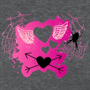 Spider web and hearts - Women's T-Shirt