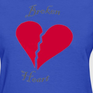 Light blue broken heart Women's T-Shirts - Women's T-Shirt