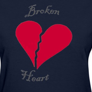 Navy broken heart Women's T-Shirts - Women's T-Shirt