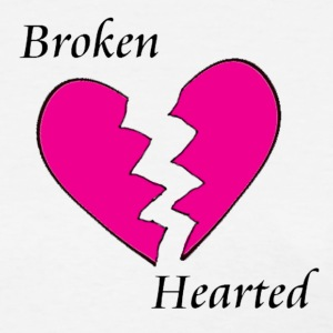 White Broken Hearted Women's T-Shirts - Women's T-Shirt
