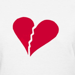 White brokenhearted Women's T-Shirts - Women's T-Shirt