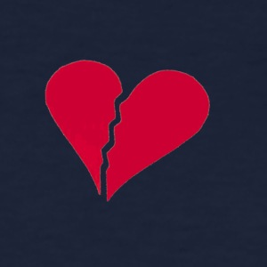 Navy brokenhearted Women's T-Shirts - Women's T-Shirt