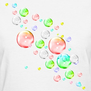 White bubbles Women's T-Shirts - Women's T-Shirt