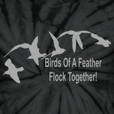 Spider black birds_of_a_feather_flock_together T-Shirts