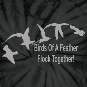 Spider black birds_of_a_feather_flock_together T-Shirts - Unisex Tie Dye T-Shirt