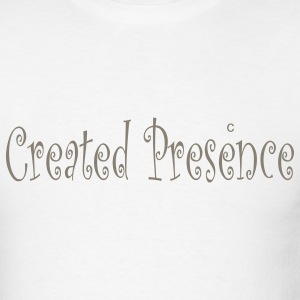 White created_presence T-Shirts - Men's T-Shirt