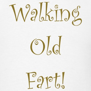 White walking_old_fart T-Shirts - Men's T-Shirt