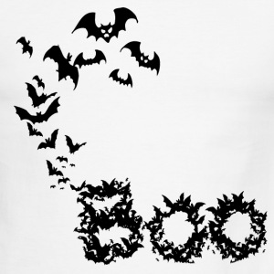 White/black Bat Boo (Digital Print) T-Shirts - Men's Ringer T-Shirt