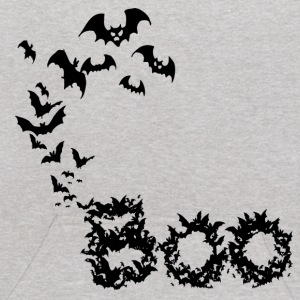 Heather grey Bat Boo (Digital Print) Sweatshirts - Kids' Hoodie