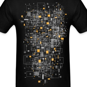 Black squares sqared designer graphic T-Shirts - Men's T-Shirt