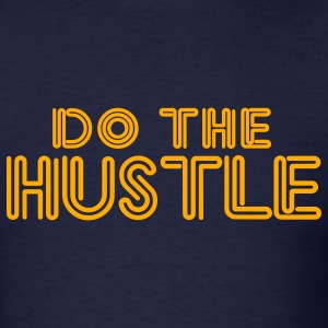 Navy do_the_hustle T-Shirts - Men's T-Shirt