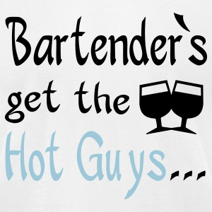 White bartenders T-Shirts - Men's T-Shirt by American Apparel