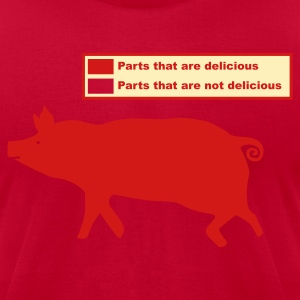Brown Pig Butchering Guide 2 T-Shirts - Men's T-Shirt by American Apparel