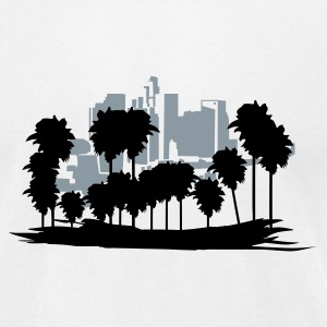 White Los Angeles T-Shirts - Men's T-Shirt by American Apparel