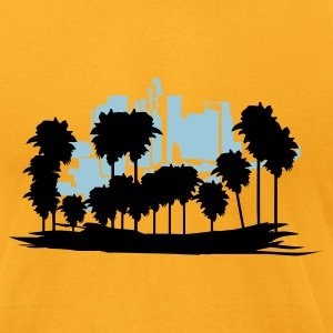 Gold Los Angeles T-Shirts - Men's T-Shirt by American Apparel