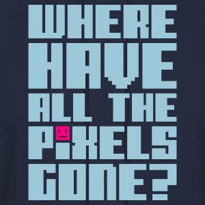 Navy Where have all the pixels gone? Hoodies - Men's Hoodie