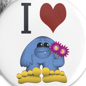 I Love Bigfoot Button - Large Buttons