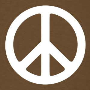 Brown peace sign - Men's T-Shirt