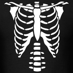 Black Skeleton Torso Halloween Costume T-shirts T-Shirts - Men's T-Shirt