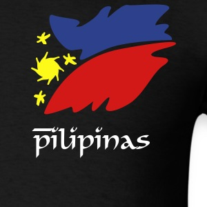 Black pinas_flag_art T-Shirts - Men's T-Shirt