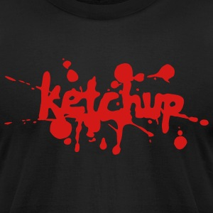 Black ketchup T-Shirts - Men's T-Shirt by American Apparel