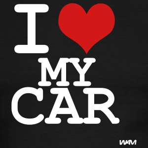 Black/white i love my car by wam T-Shirts - Men's Ringer T-Shirt