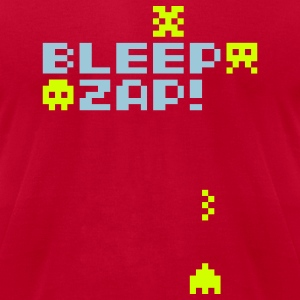 Red bleep_zap T-Shirts - Men's T-Shirt by American Apparel