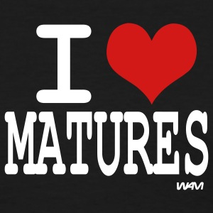 Black i love matures by wam Women's T-Shirts - Women's T-Shirt