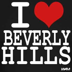 Black/white i love beverly hills by wam T-Shirts - Men's Ringer T-Shirt