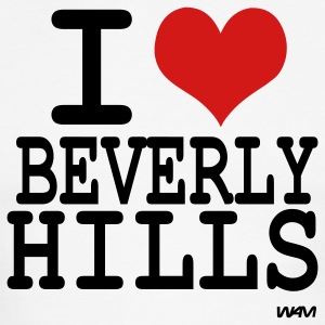 White/black i love beverly hills by wam T-Shirts - Men's Ringer T-Shirt