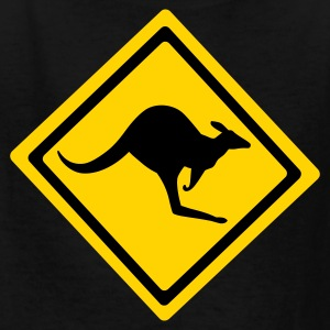 Black Australian Kangaroo Sign  Kids' Shirts - Kids' T-Shirt