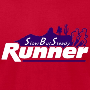 Slow But Steady Runner Blue - Men's T-Shirt by American Apparel