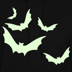 Women's Halloween Hoody w/ glow in the dark bats! - Women's Hoodie